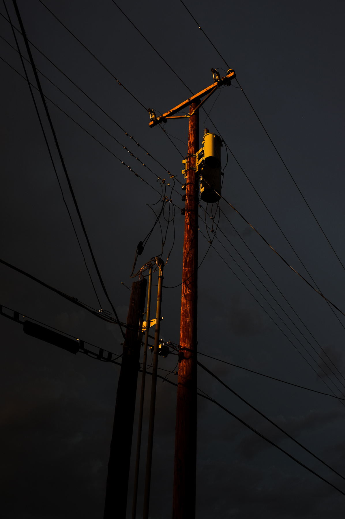 Utility Pole at Sunset